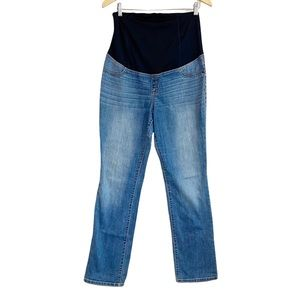 Isabel Maternity Bootbut Jeans Sz 10 Stretch Belly Panel Medium Wash